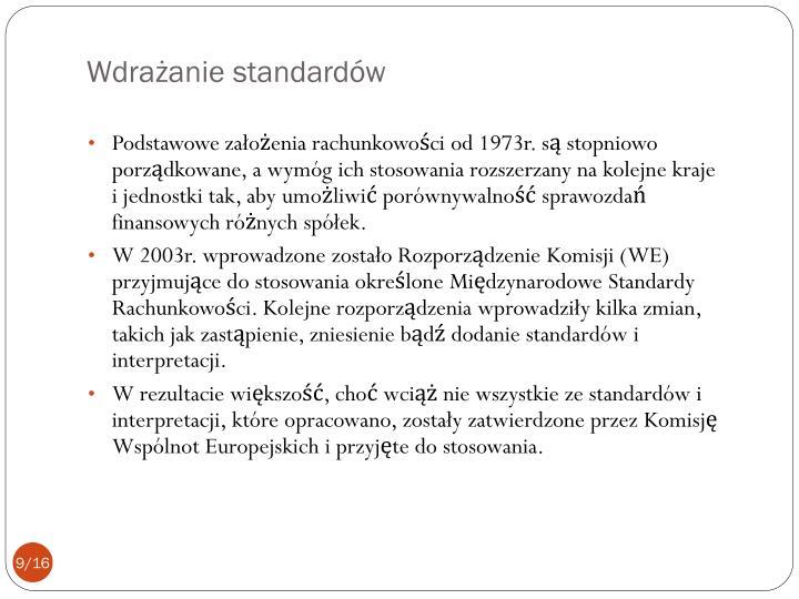 Wdrażanie standardów