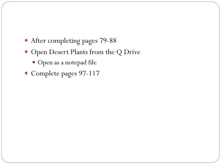 After completing pages 79-88
