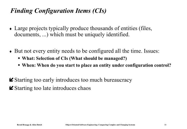 Finding Configuration Items (CIs)
