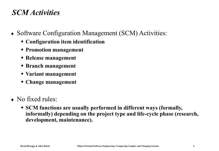 SCM Activities