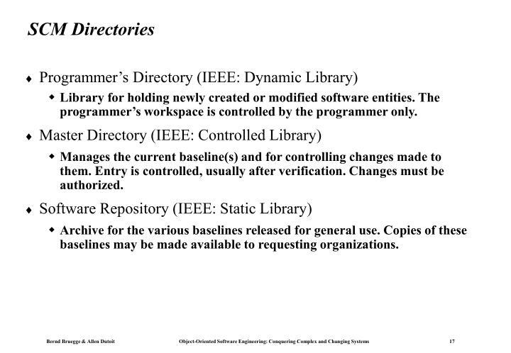 SCM Directories