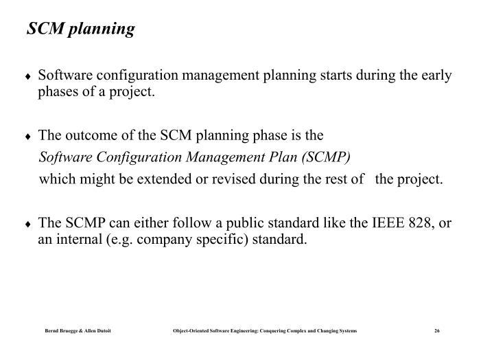 SCM planning