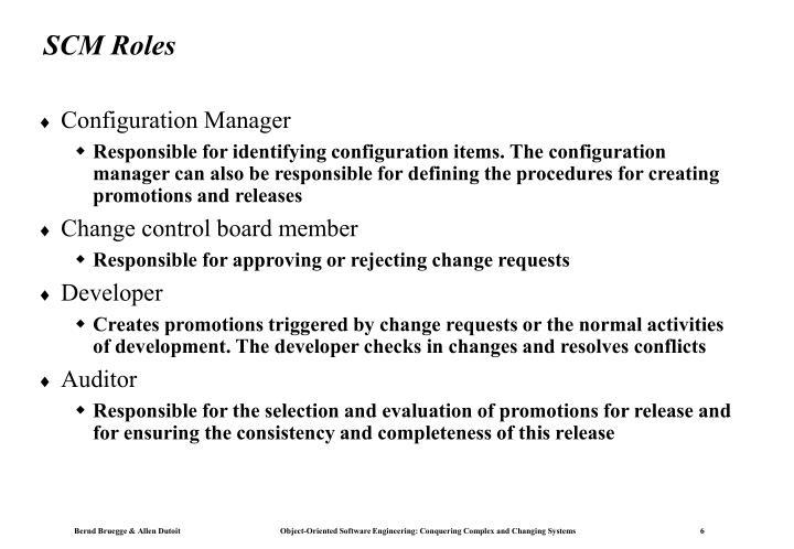 SCM Roles