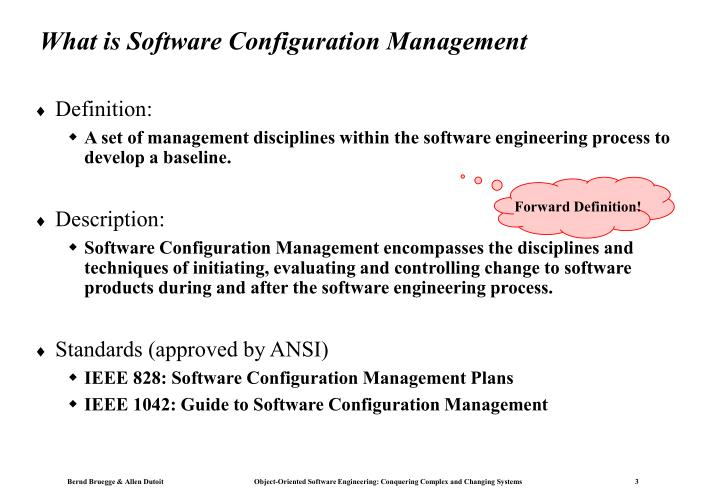 What is Software Configuration Management