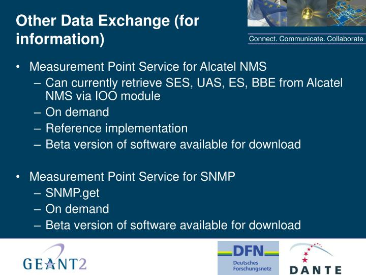 Other Data Exchange (for information)