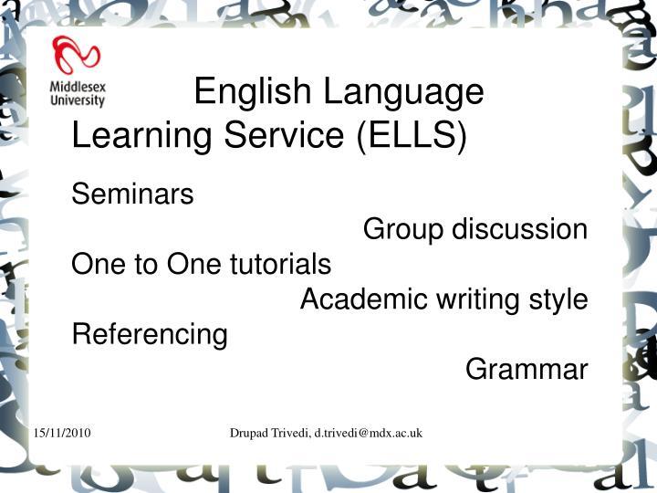 English Language Learning Service (ELLS)