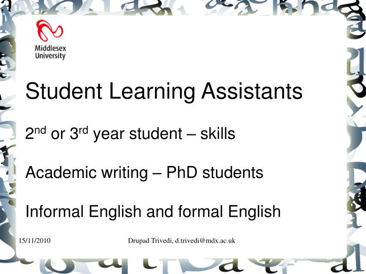 Student Learning Assistants