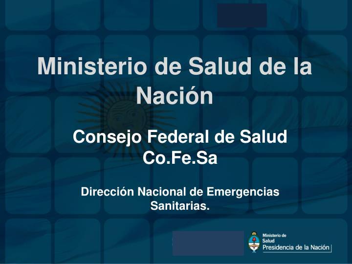 Ministerio de Salud de la
