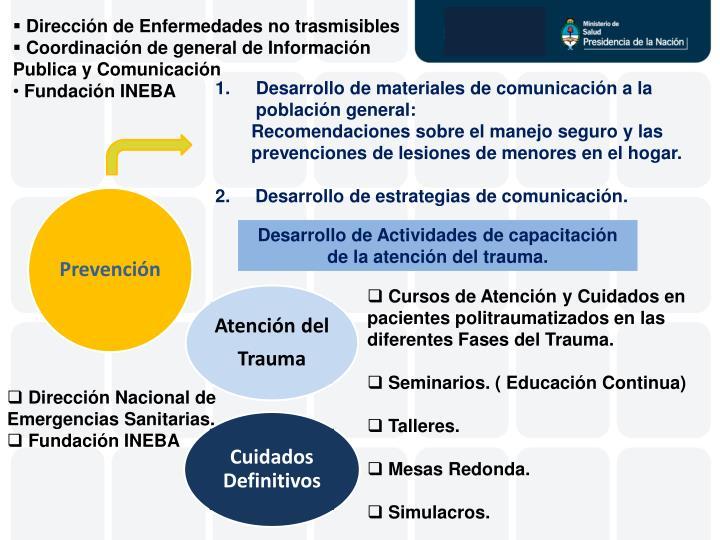 Dirección de Enfermedades no trasmisibles