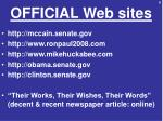 official web sites