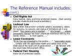 the reference manual includes cont