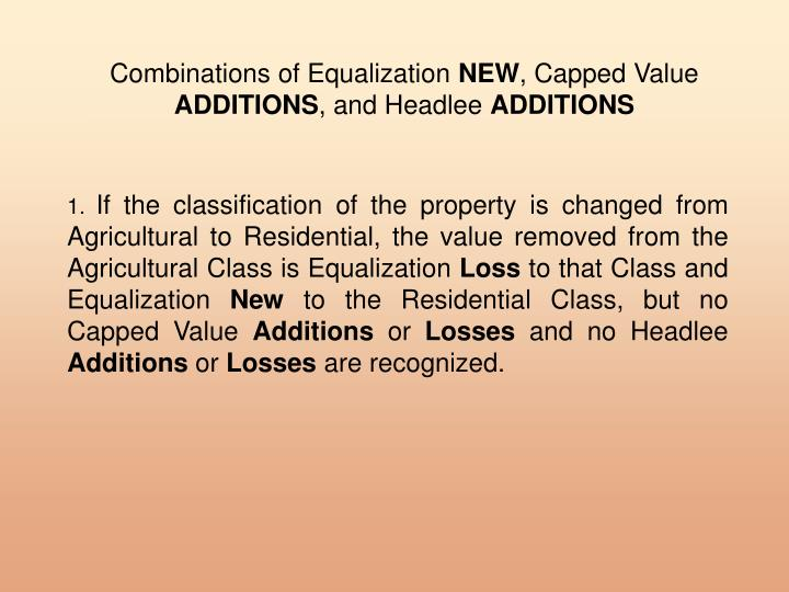 Combinations of Equalization