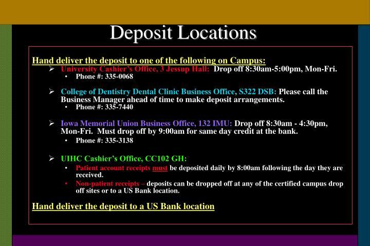 Deposit Locations