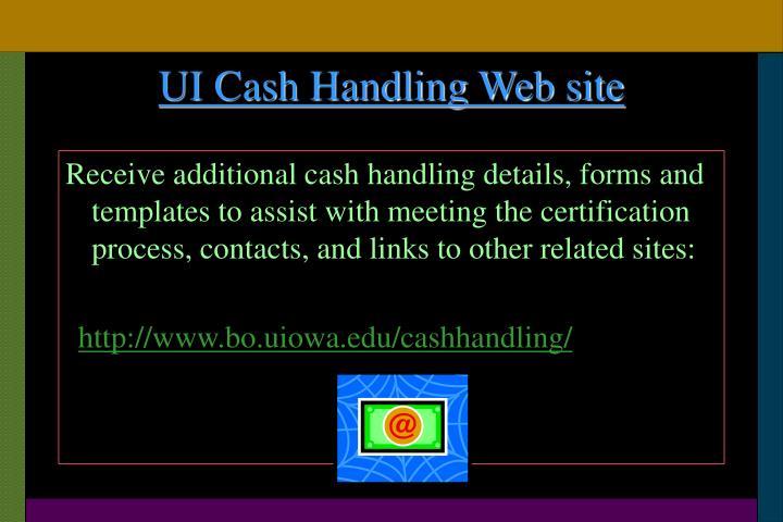UI Cash Handling Web site