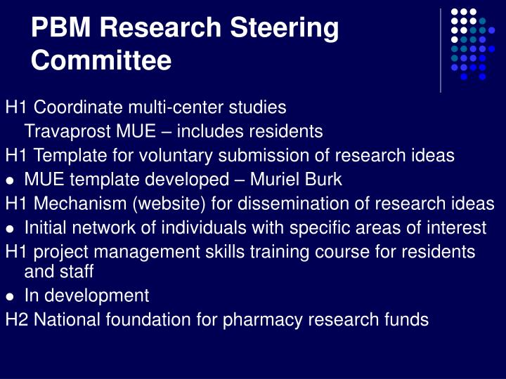 PBM Research Steering Committee