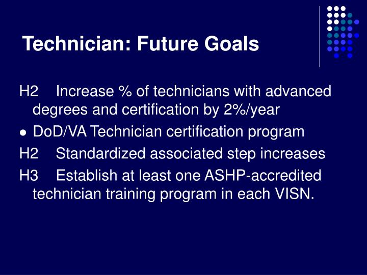 Technician: Future Goals
