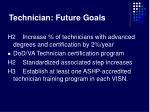 technician future goals