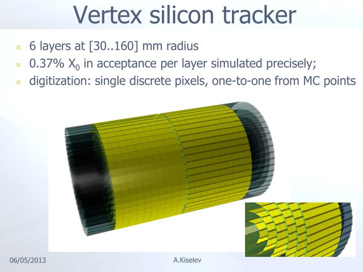 Vertex silicon tracker