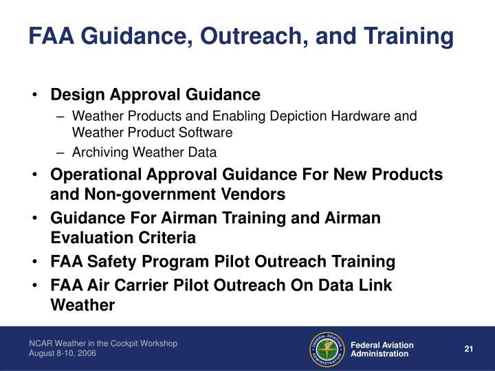 FAA Guidance, Outreach, and Training
