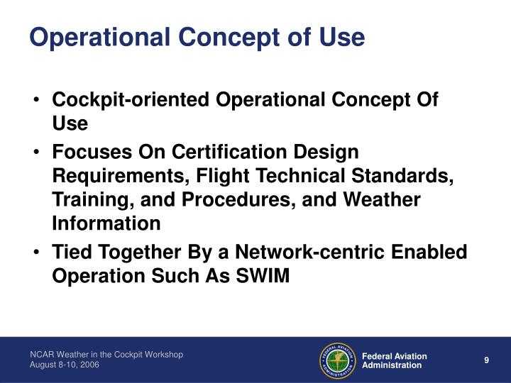 Operational Concept of Use