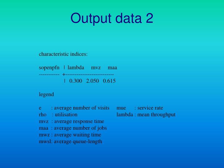 Output data 2