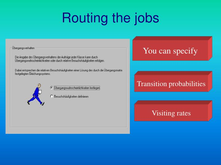 Routing the jobs
