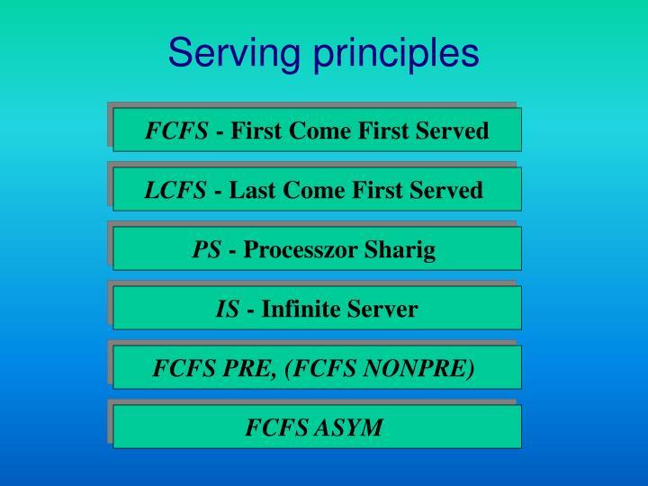Serving principles