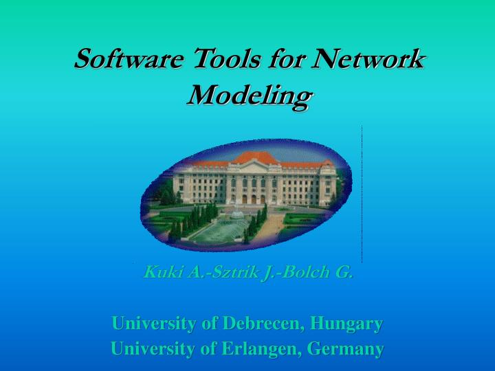 software tools for network modeling