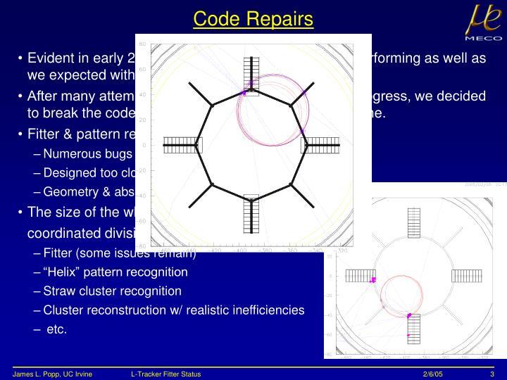Code Repairs
