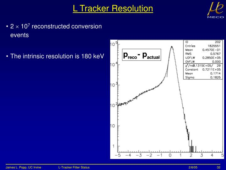 L Tracker Resolution