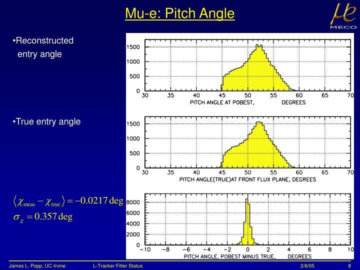 Mu-e: Pitch Angle