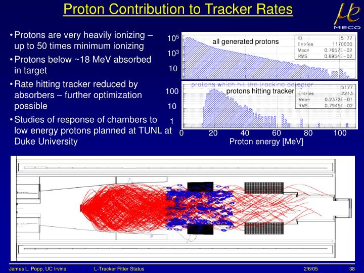 Proton Contribution to Tracker Rates