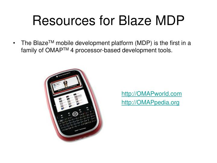 Resources for blaze mdp