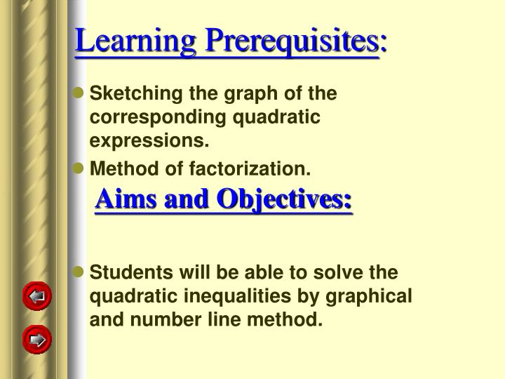 Learning Prerequisites