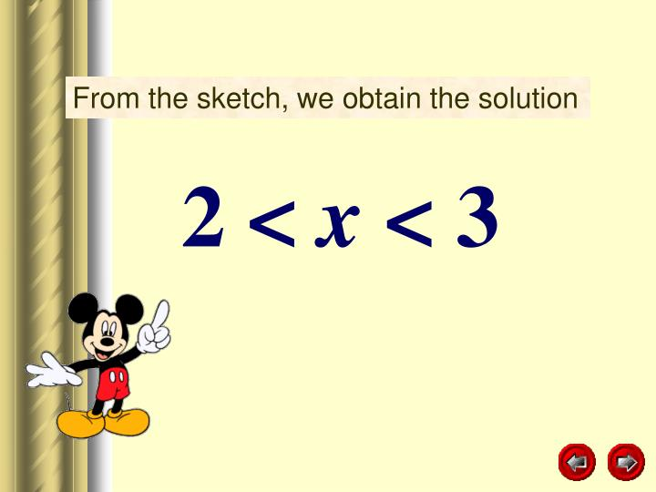 From the sketch, we obtain the solution