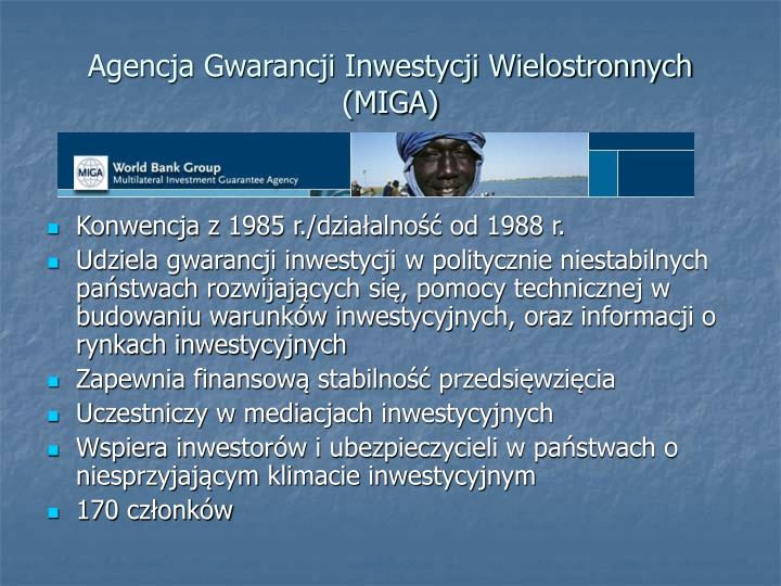 Agencja Gwarancji Inwestycji Wielostronnych (MIGA)