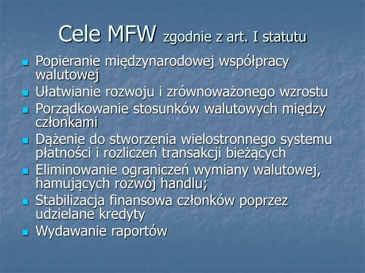 Cele MFW