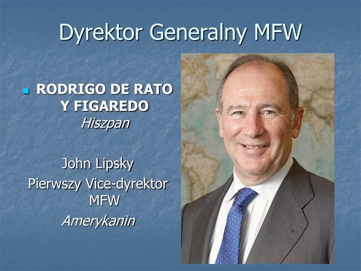 Dyrektor Generalny MFW