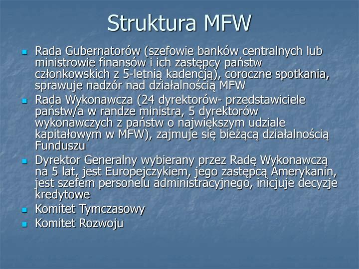 Struktura MFW