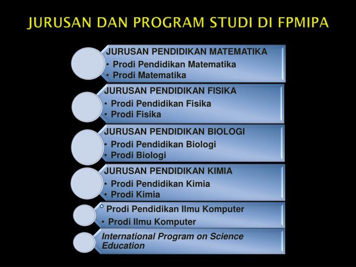 JURUSAN DAN PROGRAM STUDI DI FPMIPA