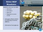 noaa mdp mandates