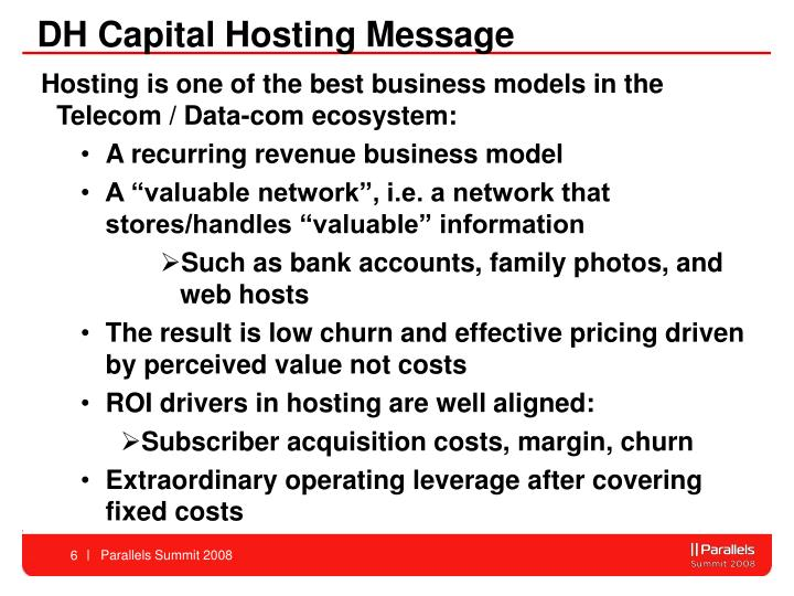 DH Capital Hosting Message