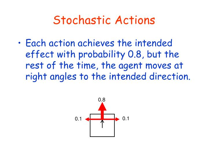 Stochastic Actions