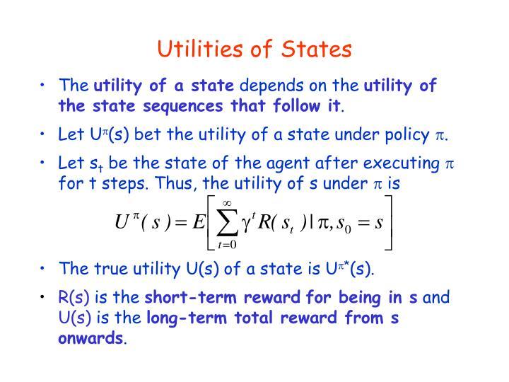 Utilities of States
