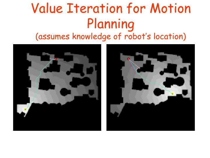 Value Iteration for Motion Planning