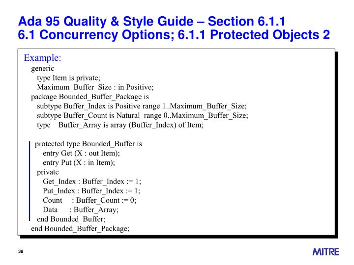 Ada 95 Quality & Style Guide – Section 6.1.1