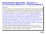 ada 95 quality style guide section 6 1 1 6 1 concurrency options 6 1 1 protected objects 4