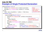 ada 95 rm example of single protected declaration