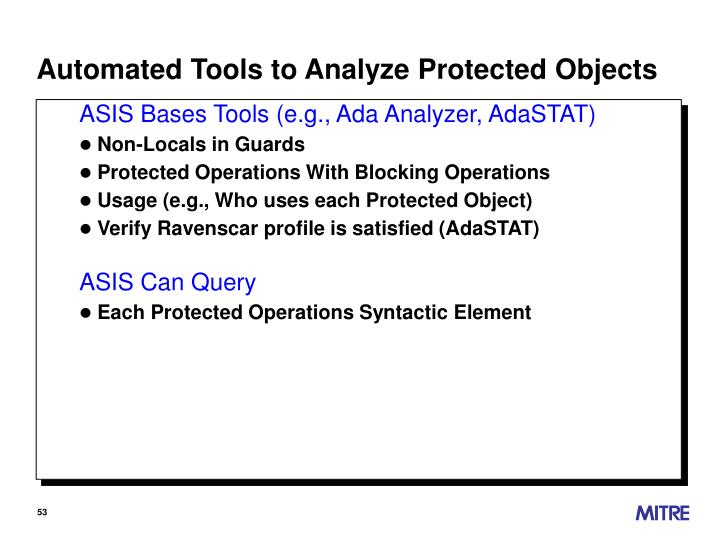 Automated Tools to Analyze Protected Objects