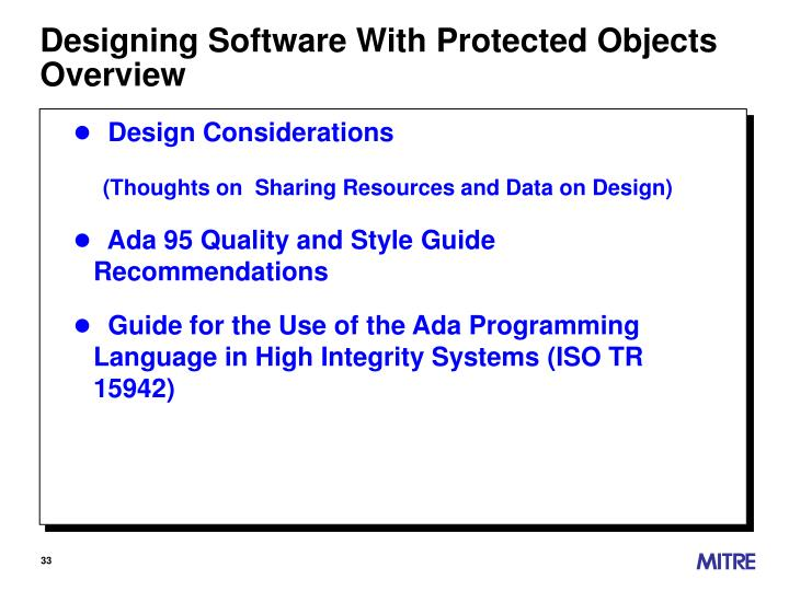 Designing Software With Protected Objects